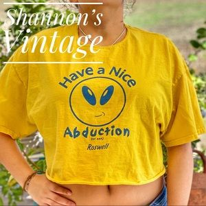 Roswell, NM abduction XL cropped shirt A27
